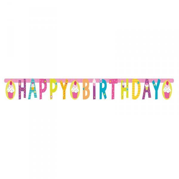 "Girlande Cupcakes ""Happy Birthday"", 1,9m"