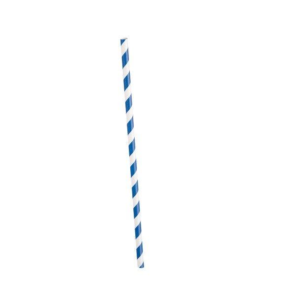 Strohhalme gestreift blau/weiss, 10 St