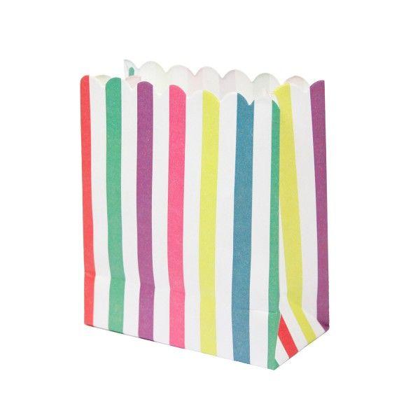 Mini Partytüten Streifen bunt, 12 Stück X