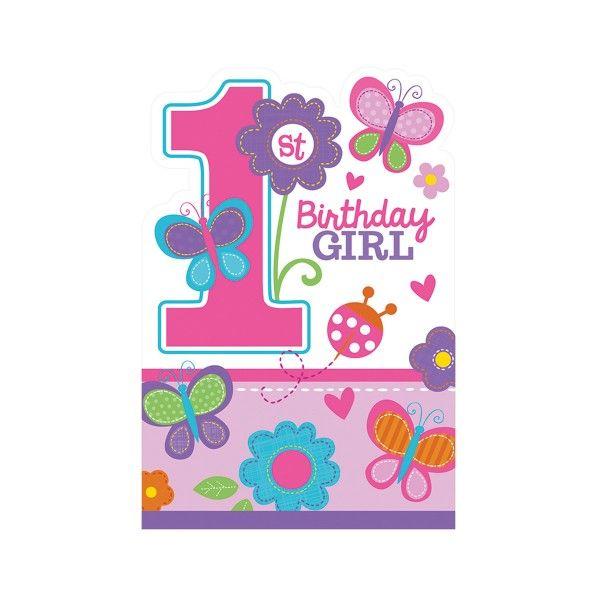 Einladungskarten 1. Geburtstag, 8 St