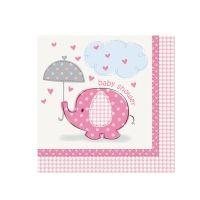 Servietten Baby, rosa, 33cm, 16 St