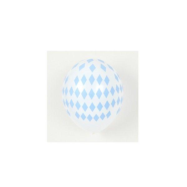 Ballons-hellblau-Raute
