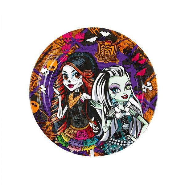 Pappteller Monster High, ø 23cm, 8 Stück