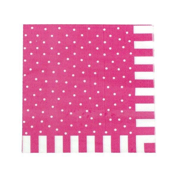 Servietten mit Punkten, pink, 20 St