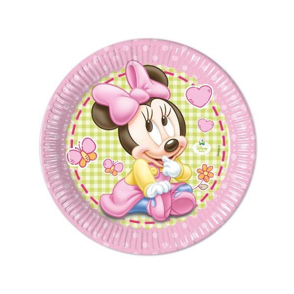 T1142345-Pappteller-Baby-Minnie-23cm-8-Stueck