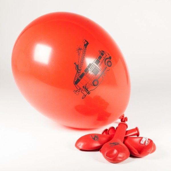 Luftballons Feuerwehr, 8 Stück