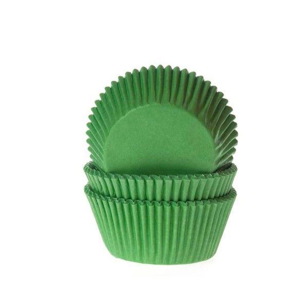 Muffinförmchen, grün, 50 Stück