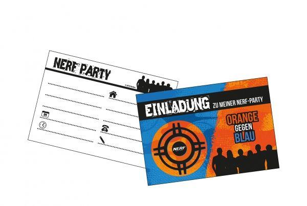 Einladungskarten NERF, 6 Stück