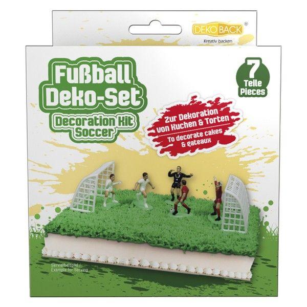 Tortendeko Set Fussballfeld, 7-teilig