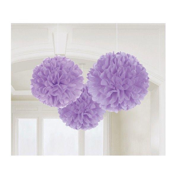 Pompons lila