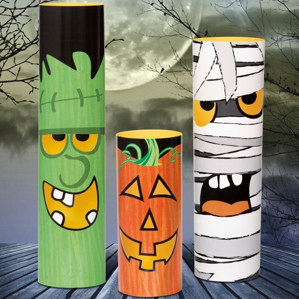 Tischdeko Halloween Monster, 3 St