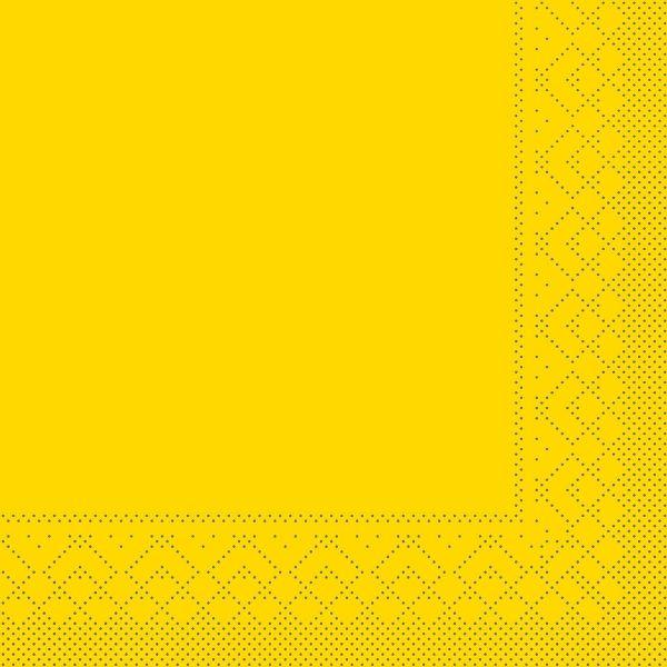 Servietten Gelb, 33cm, 20 Stück