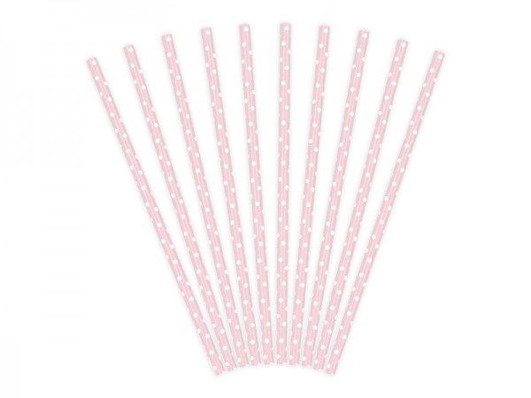 Strohhalme aus Papier, Rose, Sweets, 10 Stück