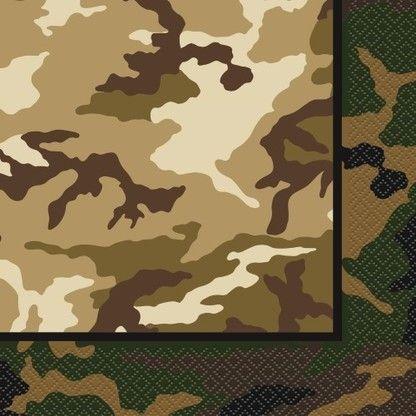 Servietten Camouflage, 33x33cm, 16 Stück