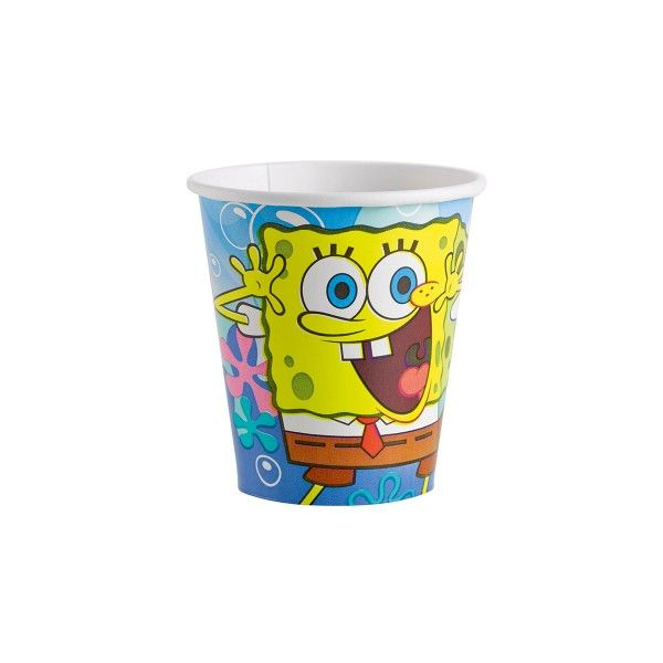 Pappbecher SpongeBob, 266ml, 8 Stück