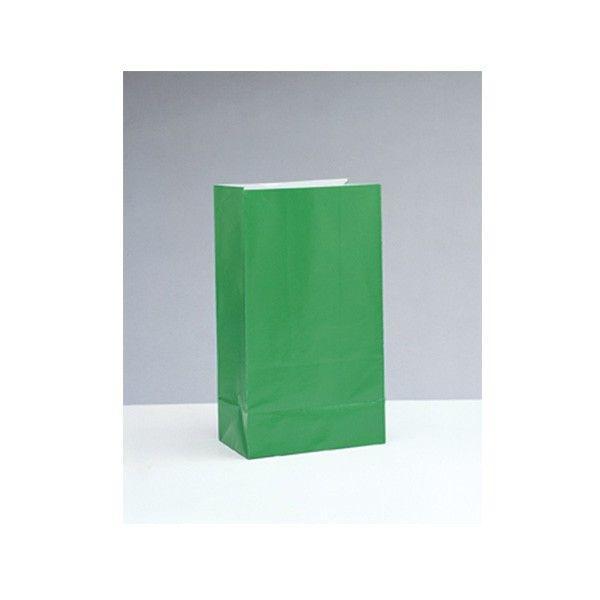 Partytüten aus Papier, grün, 12 Stück
