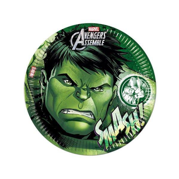 T1142327-Pappteller-Avengers-Teen-Hulk-23cm-8-Stueck