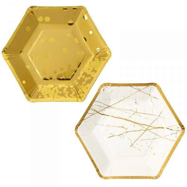 Pappteller gold, ø 18cm, 8 Stück X X