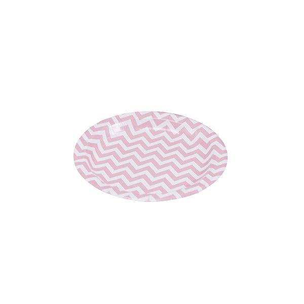 Pappteller-Pink-Chevron-Divine