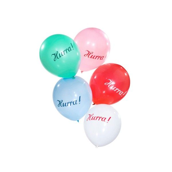 Luftballons-Hurra