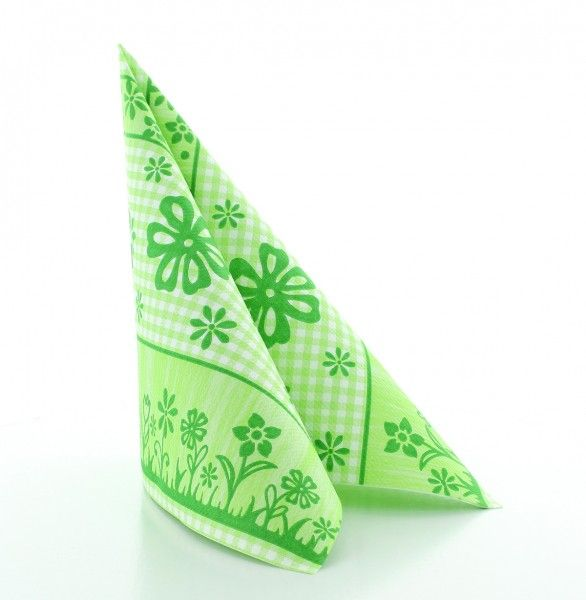 Servietten Joni in Grün aus Linclass® Airlaid 40 x 40 cm, 50 Stück