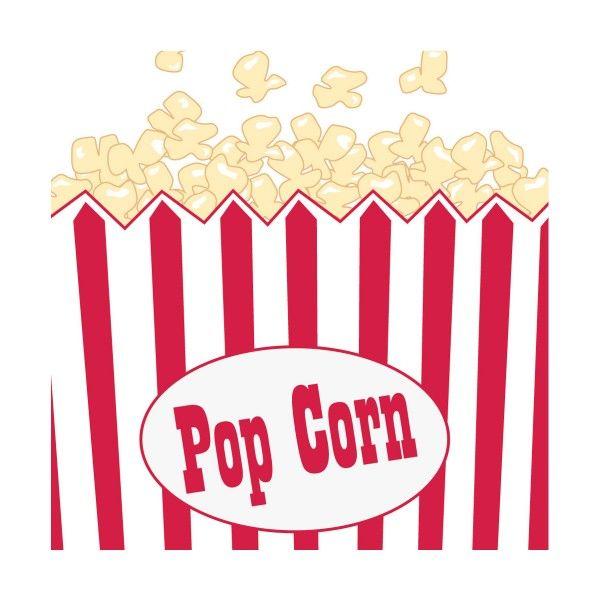Servietten Popcorn, 25cm, 16 St