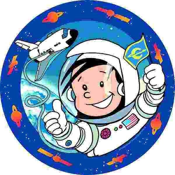 Zucker-Tortenaufleger Astronaut Flo, ø 16cm