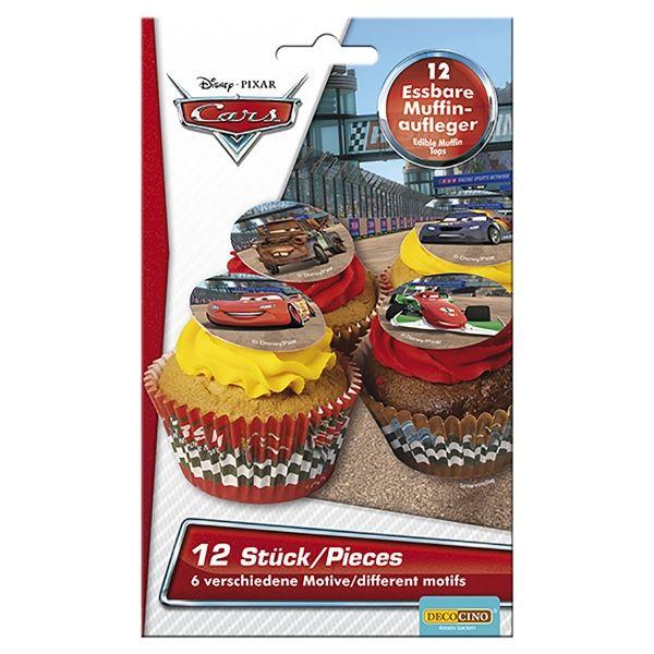 Essbare Muffinaufleger - Cars, 12 Stück