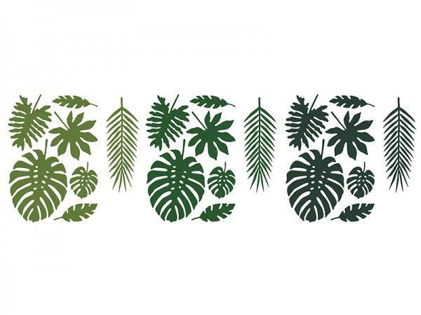 Tischdekoration aus Papier, Hawaii, 21 Stück