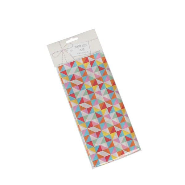 Seidenpapier geometrsiches Muster bunt