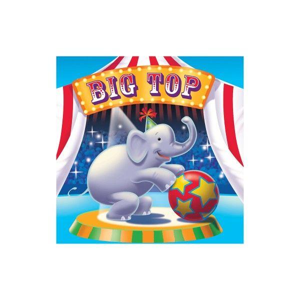 Servietten Zirkus, 33cm, 16 Stück
