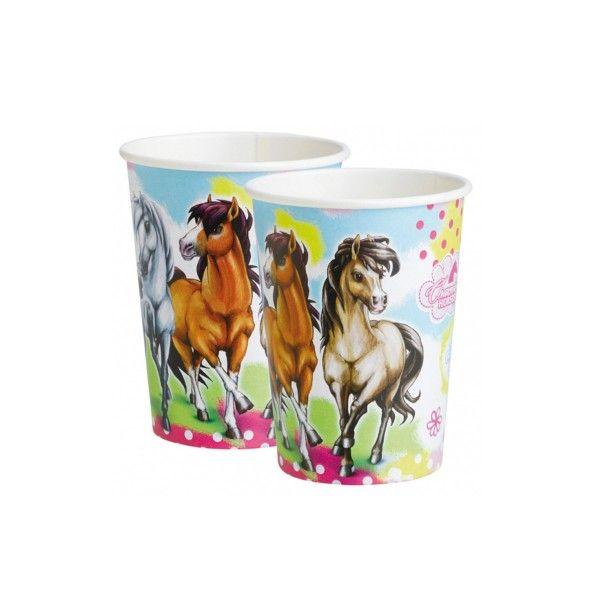 T1142134-Pappbecher-Pferd-Charming-Horses-266ml-8-Stueck