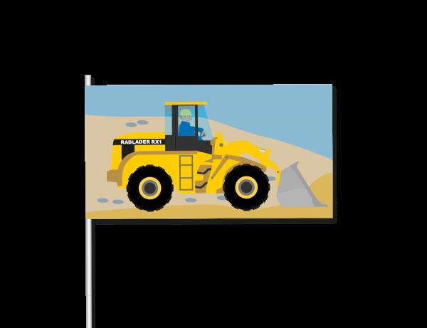 Papierflaggen Baustelle, 8 Stück