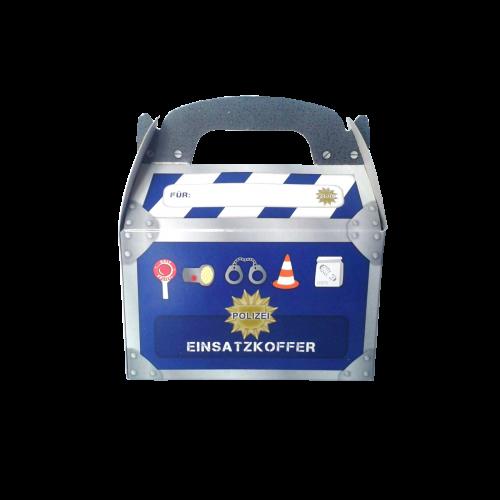 Geschenkboxen Polizei, 15x8x9,5cm, 6 Stück