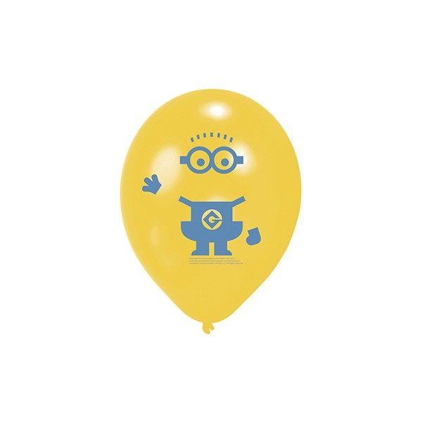 Luftballons Minions, 6 Stück