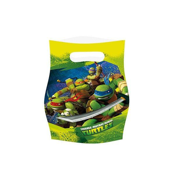 T1142249-Partytueten-Ninja-Turtles-6-Stueck