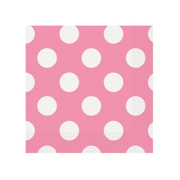 Servietten Punkte pink, 33cm, 16 St