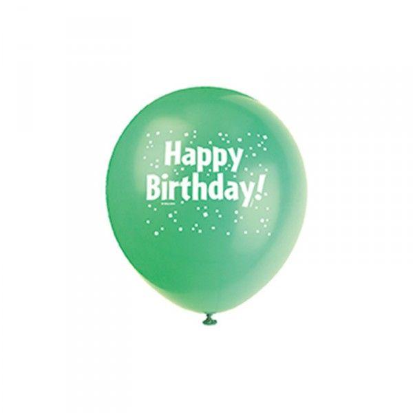 Luftballons Happy Birthday, 8 Stück X