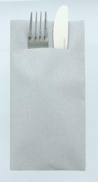 Besteckservietten Silber, 40cm, 12 Stück