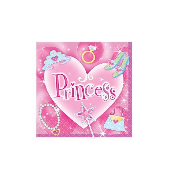 Servietten Prinzessin, 33cm, 16 Stück
