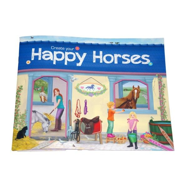 Stickerbuch Pferde Create your Happy Horse