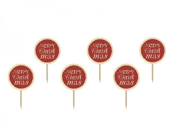 Cupcake Topper Christmas, 6 Stück