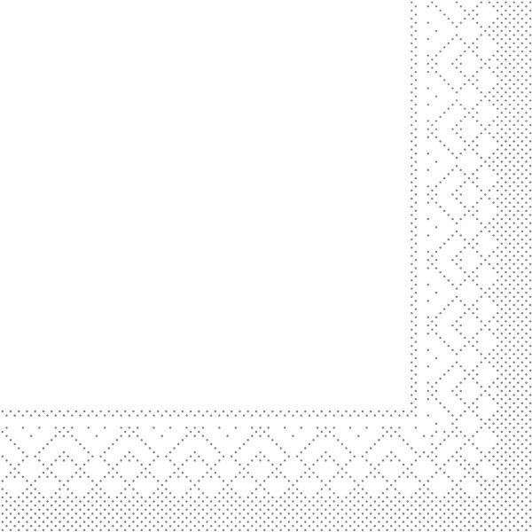 Servietten Weiß, 33cm, 20 Stück