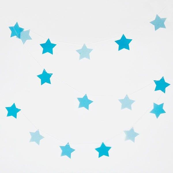 Girlande-Sterne-blau-3m-neu