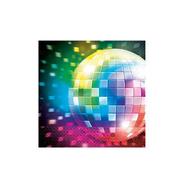 Servietten Disco, 33cm, 16 Stück