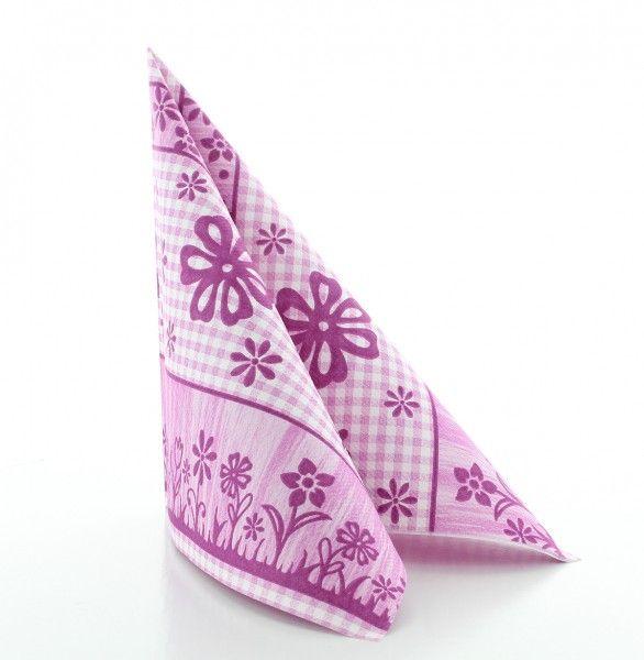 Servietten Joni in Pink aus Linclass® Airlaid 40 x 40 cm, 50 Stück