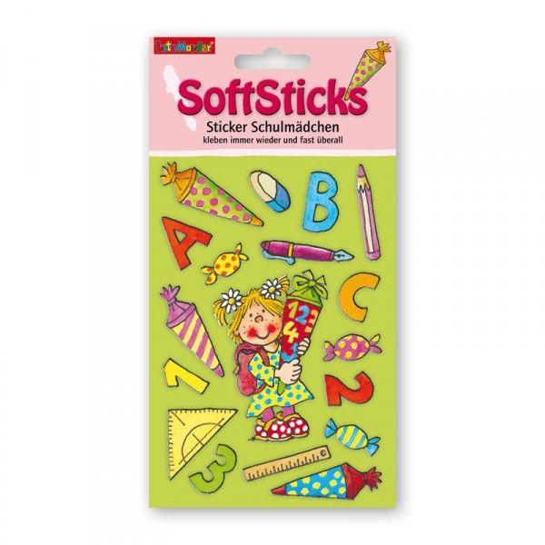 Soft Sticker Schulmädchen