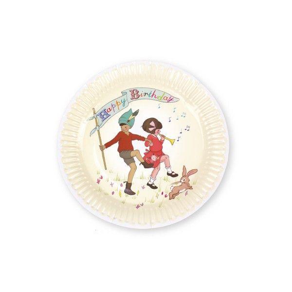 Pappteller Belle & Boo, ø 23cm, 8 Stück