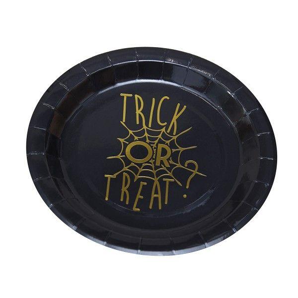 Pappteller Halloween - Trick or Treat?, ø 23cm, 8 Stück