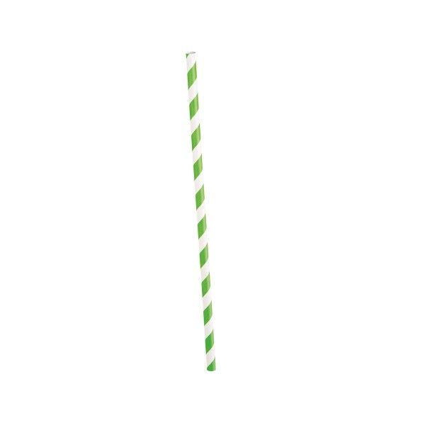 Strohhalme gestreift lime/weiss, 10 St